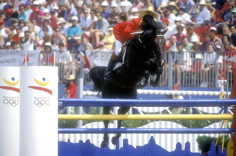 Ludo Philippaerts and Darco at the Barcelona Olympics 1992