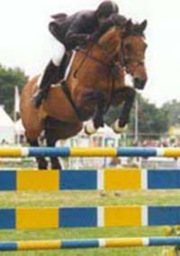 Showjumper Geoff Glazzard & Barry Bug